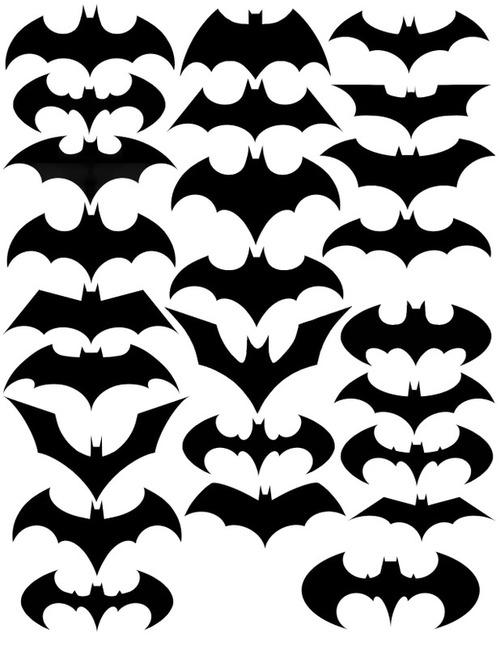 Coleção dos logos do Batman de 1941 até 2012